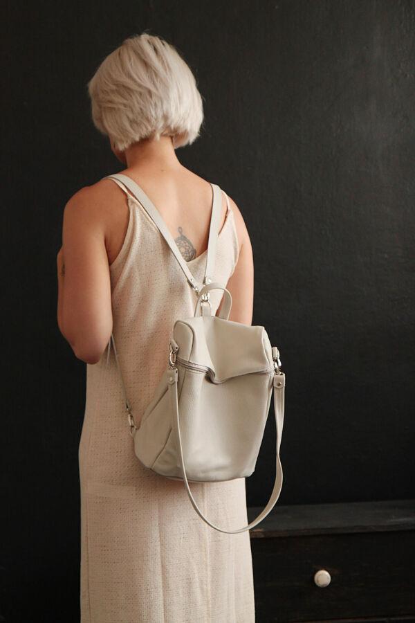 Стильный рюкзак из натуральной кожи 2 в 1 (сумка)