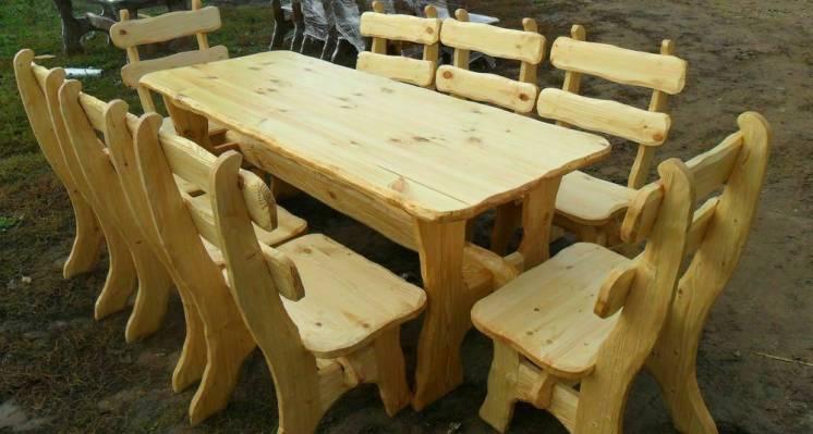 Столы из дерева. Деревянный стол. Дачный комплект. Садовый комплект
