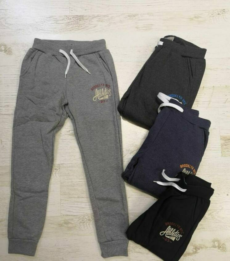 Утепленные спортивные штаны для мальчиков 134, 140,146,152,158,164,170