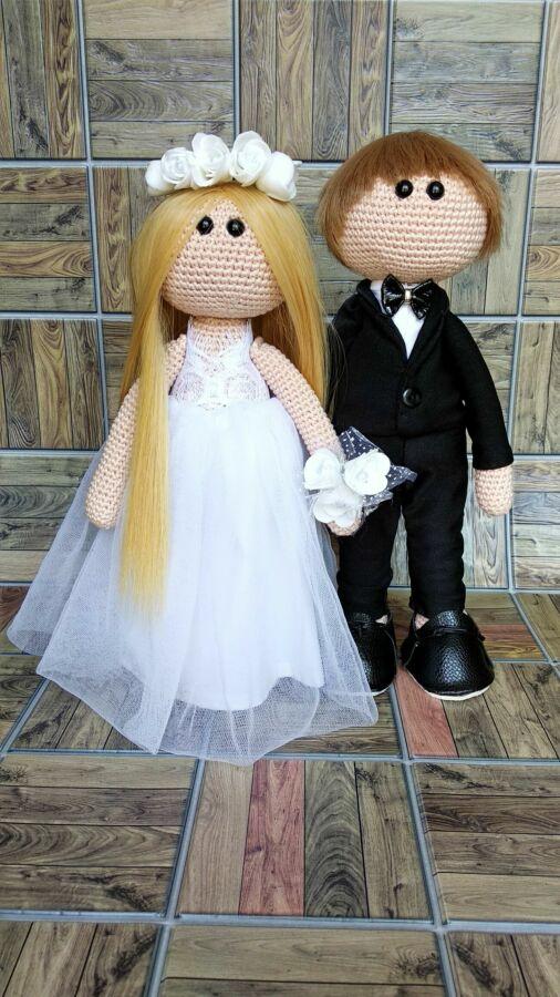 Куклы интерьерные, подарочный набор. Жених и Невеста ручной работы