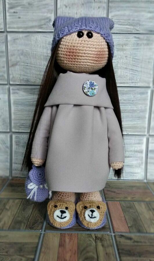 Кукла интерьерная, подарочная, девочка с рюкзачком