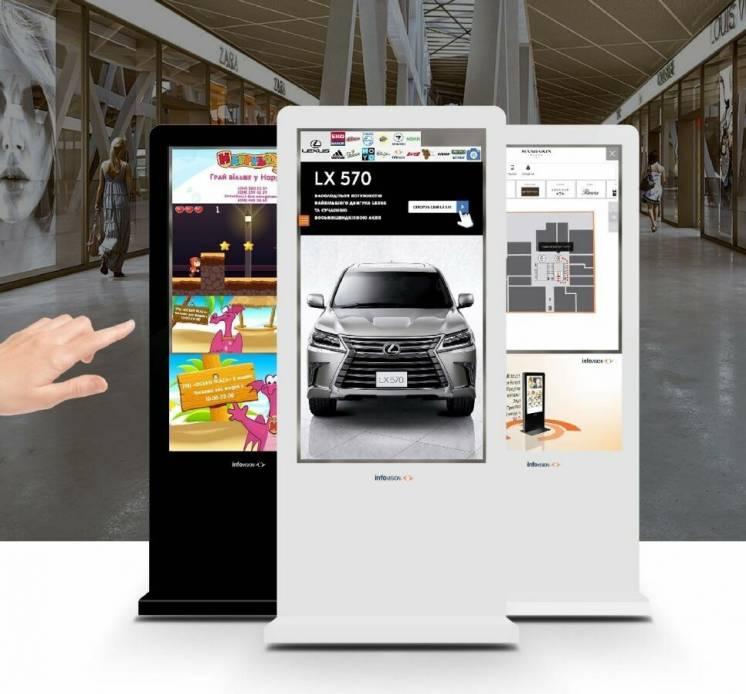 Реклама для Вашого бізнесу на сенсорних екранах в ТРЦ всієї України!