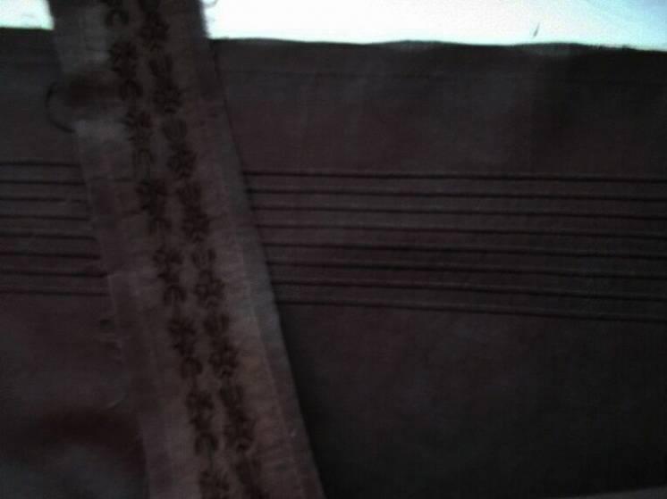 Ткань хлопок батист коричневый шоколадный,  14 кусков. Для Рукоделия