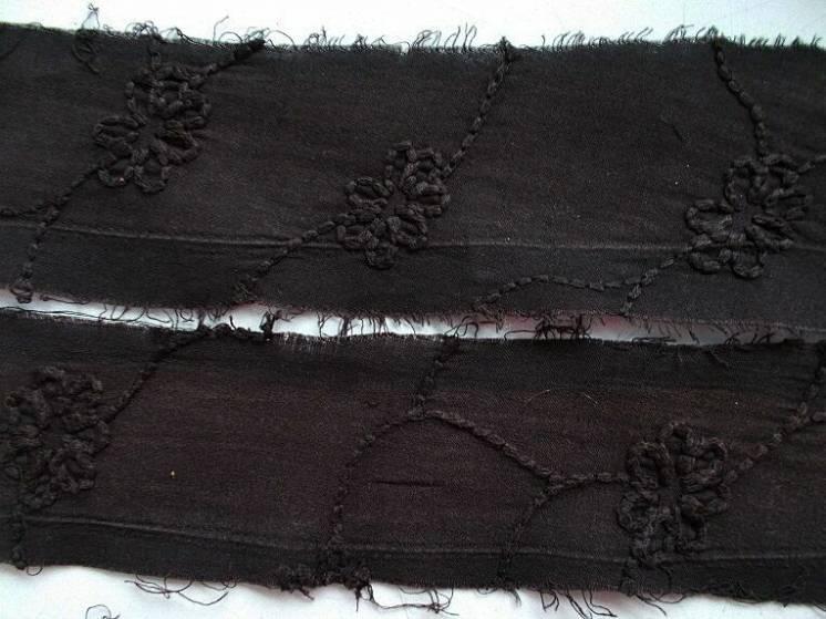 Ткань хлопок прошва коричнево- шоколадного цвета