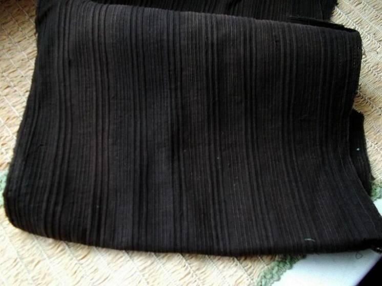 Ткань хлопок коричнево- шоколадный в рубчик 6 кус. Поделки,рукоделие