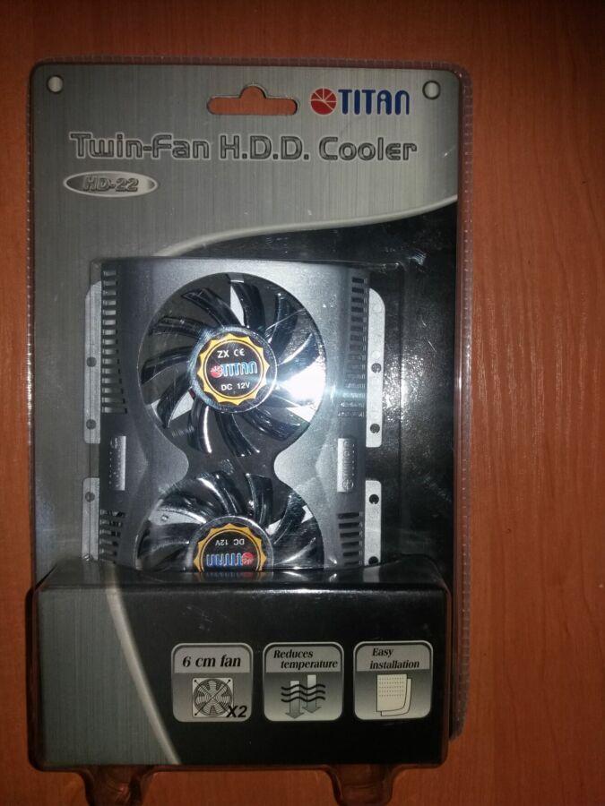 Охолодження жосткого диска Titan Twin-fan H.d.d. Cooler Hd-22