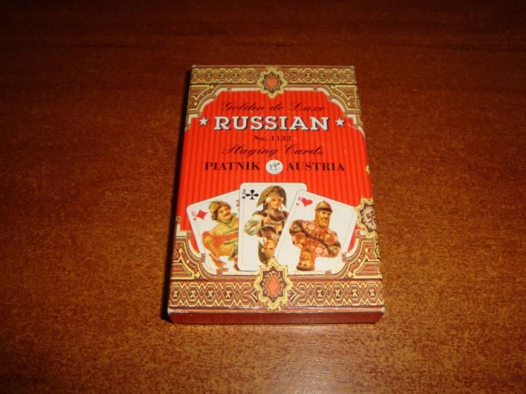 Игральные карты Русский стиль (Зотая Россия) , Австрия,
