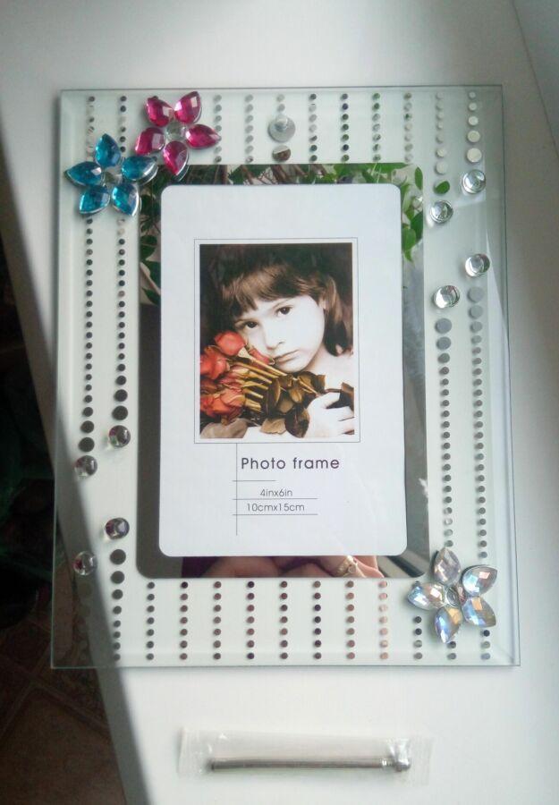 Новая стеклянная рамочка/рамка для фото
