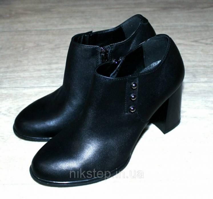 Ботинки осенние Кожа, кожаные ботинки