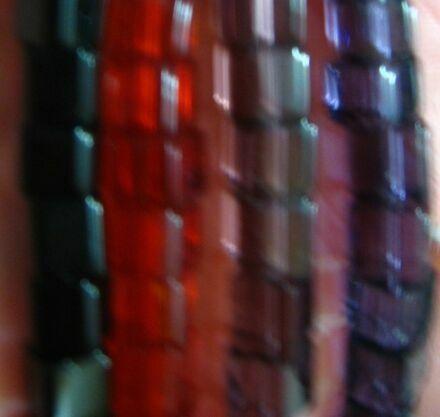 бусины кубик прозрачный 3 4, чёрный, красный, розовый, сиреневый, торг