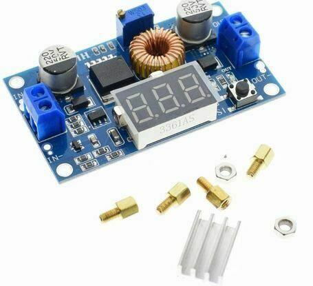 Dc-dc понижающий Xl4015 4а 5a со встроенным вольтметром 12v 14в 5в