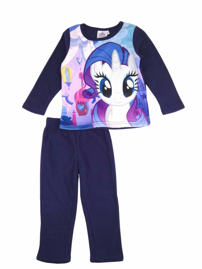 Темно - синяя флисова пижама с пони, My little pony на девочек, Sun Ci