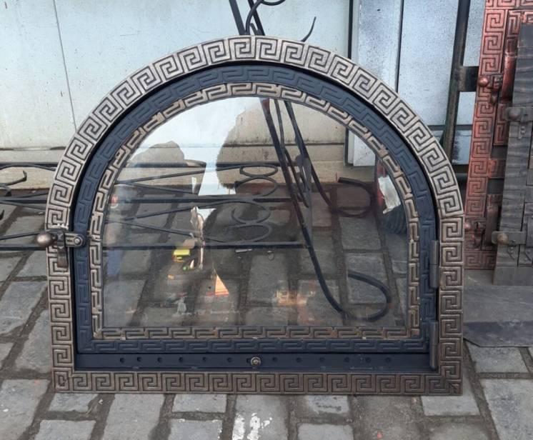 Изготовляем кованные дверки для каминов и коптилен со стеклом