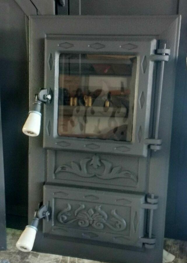 Дверки для печки с температуростойким стеклом