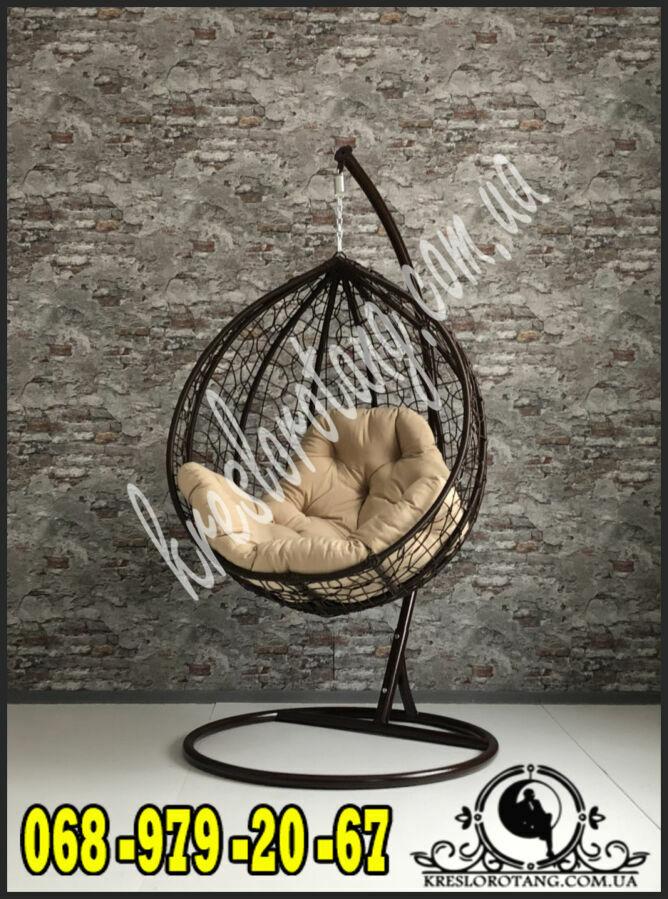 Подвесное кресло из ротанга. гамак Kreslorotang. садовая качеля кокон.