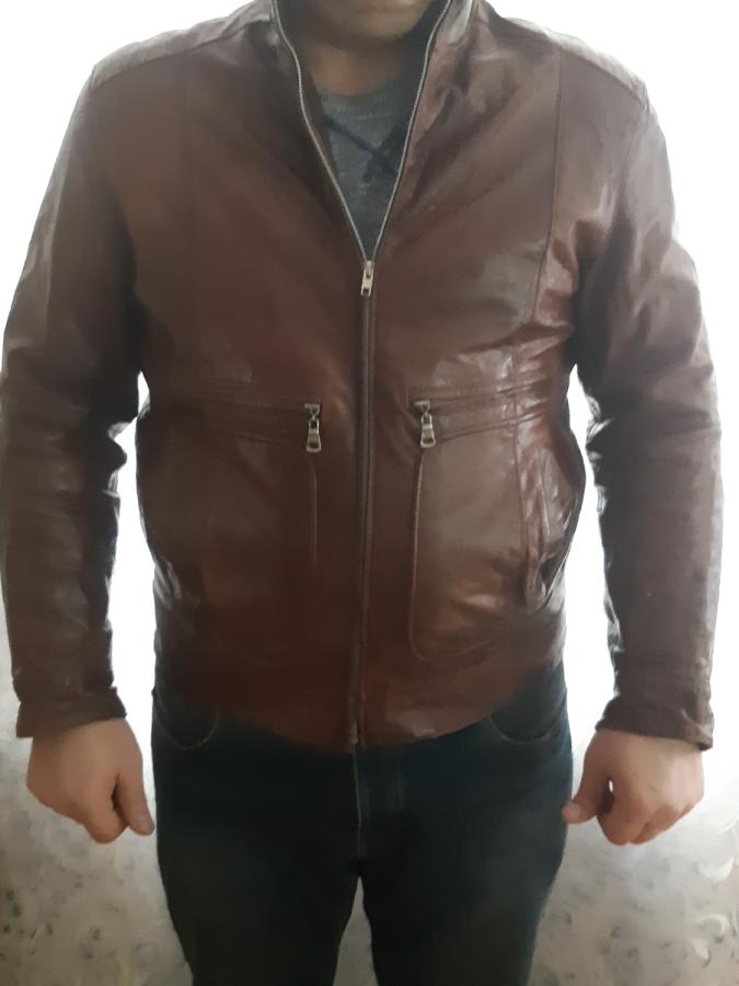 Куртка кожаная мужская (кожа натуральная).