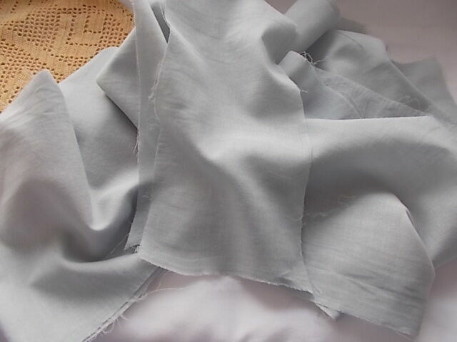 Ткань хлопок батист серо-голубой. For Hand Made, поделок, рукоделия