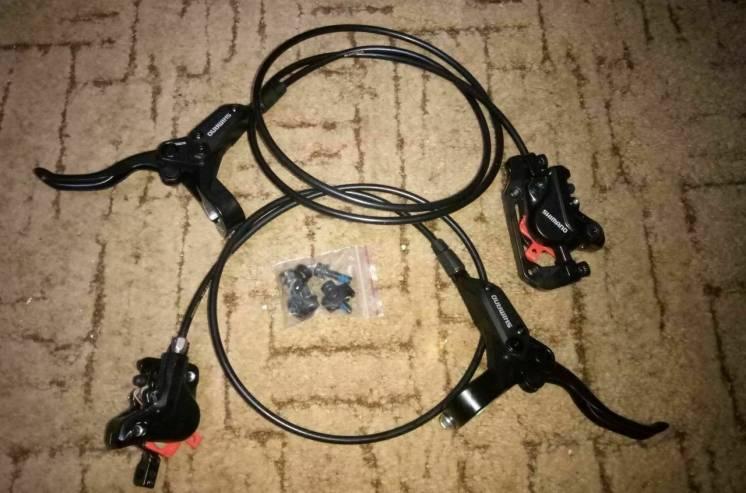 Новые идравлические тормоза Shimano Acera Br-m395/bl-m396