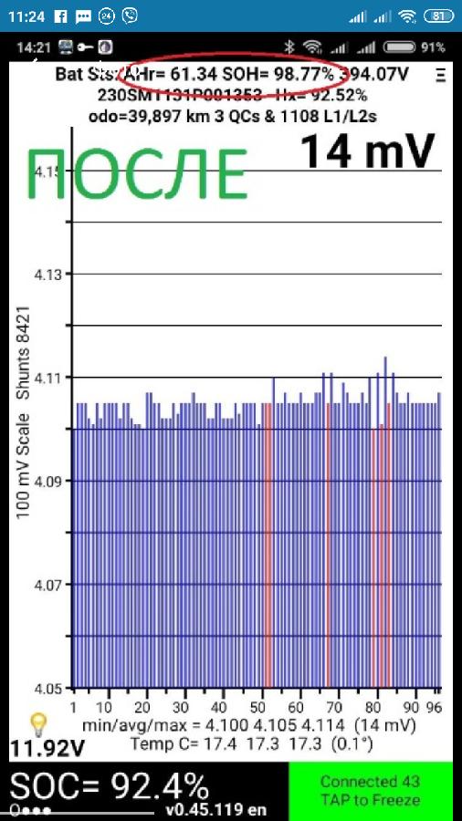 Leaf/Лиф 30-40квт обновление программного обеспечения(прошивки) батаре