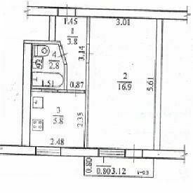 Срочно продам 1 ком. квартиру пр. Гагарина район Материка.