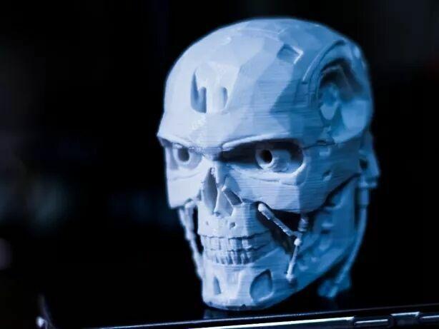 Терминатор T-800 голова/модель/голова/киборг/робот/