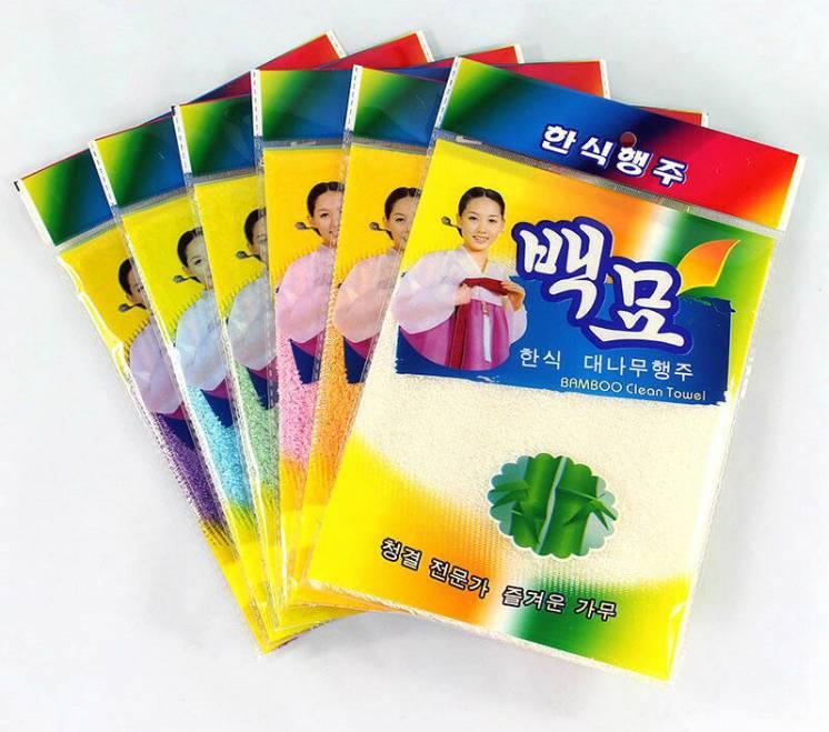 Бамбуковая салфетка из Кореи 23х18 см в наличии. Не Китай.