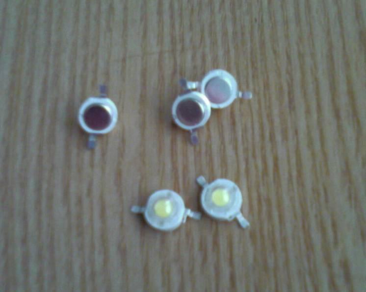 Светодиоды LED 3 Вт белый, синий, красный
