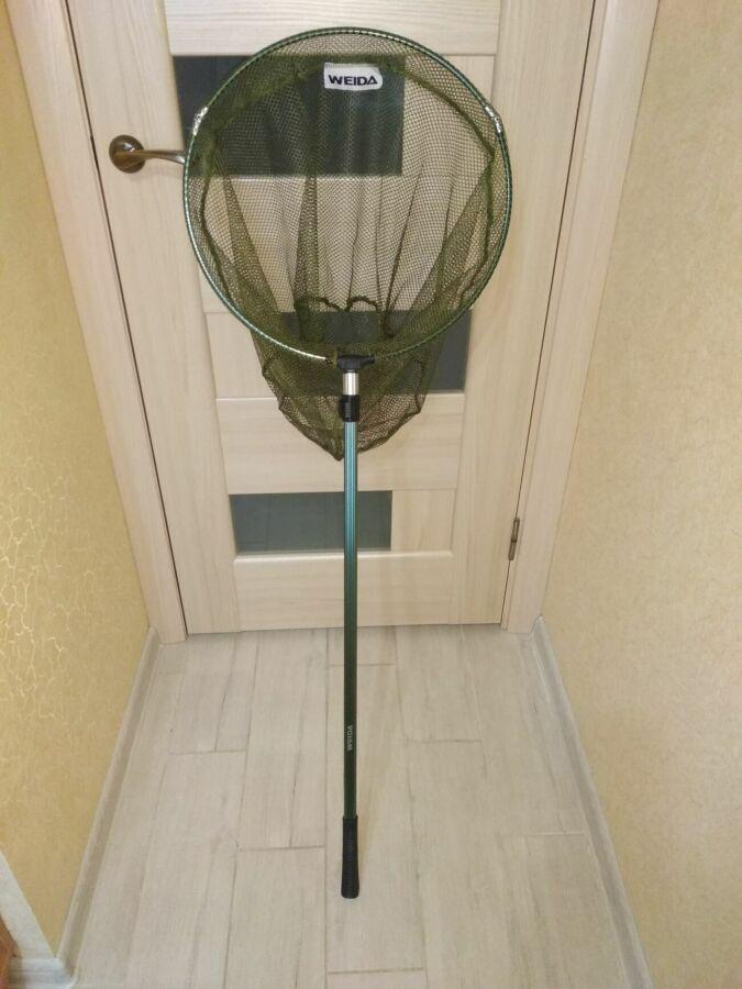 Подсак подсачек телескопический разборной 1.9 м для рыбалки