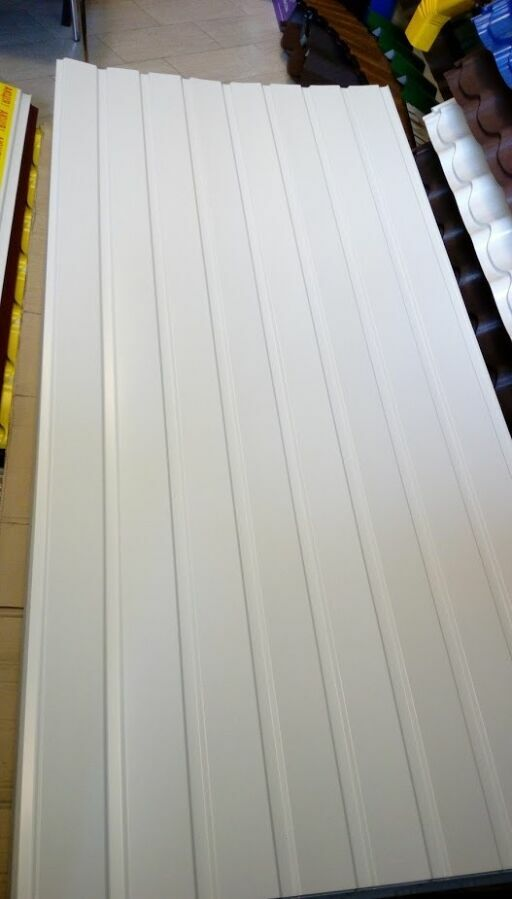 Белый профнастил стеновой пс 10 высокого качества длина 2 м