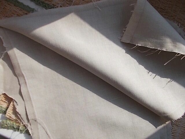 Ткань лен натуральный телесно-бежевый цвет 8 кусков, для рукоделия