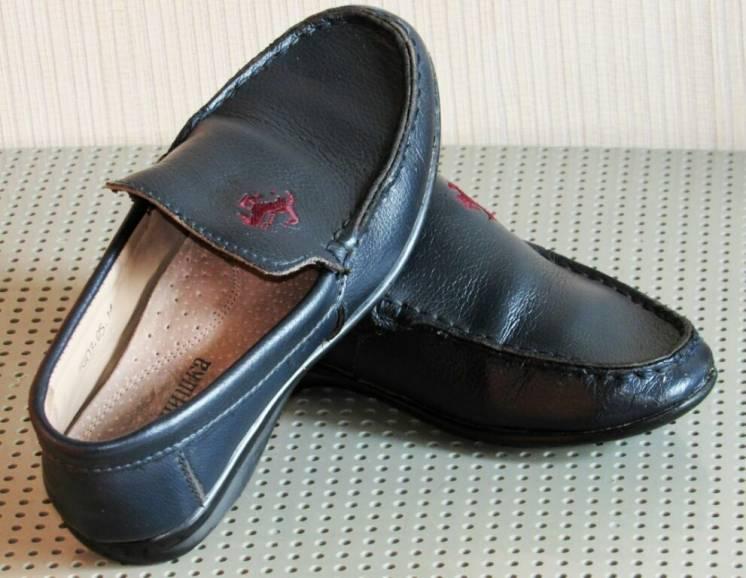 Фирменные кожаные туфли, мокасины, стелька 20,5 см