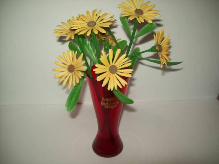 Цветок пластмасса букет цветы пластмассовые ссср
