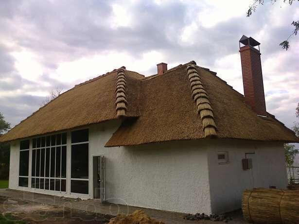 Камышовая крыша ( кровля )  , маты из камыша