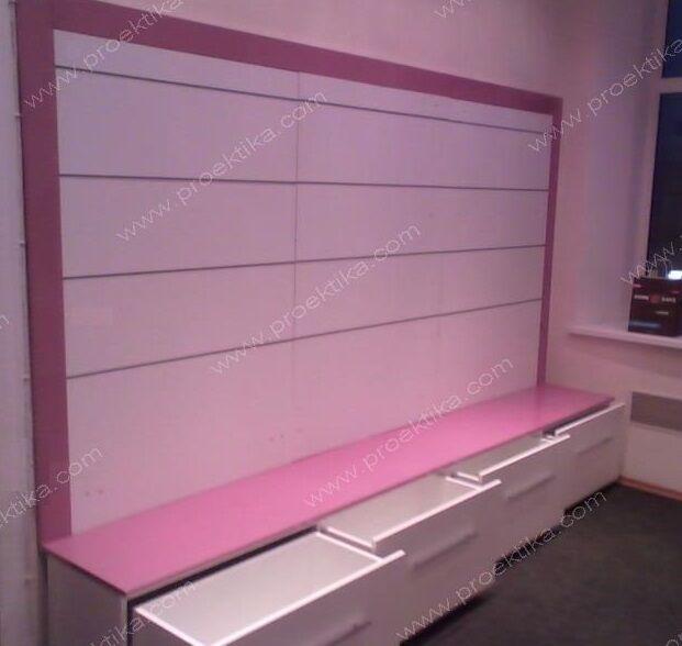 Торговое оборудование для магазина одежды из экономпанелей