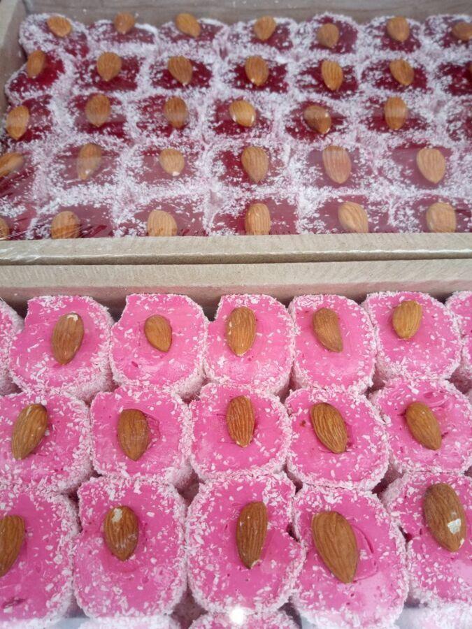 Рахат-лукум в ассортименте.фруктовый.султан.пальчики ореховые. пахлава