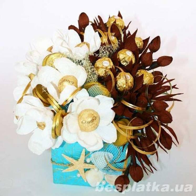Букет из конфет Голубая лагуна