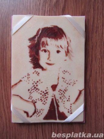 Натуральный шоколадный портрет из шоколада - ручная работа! Под заказ
