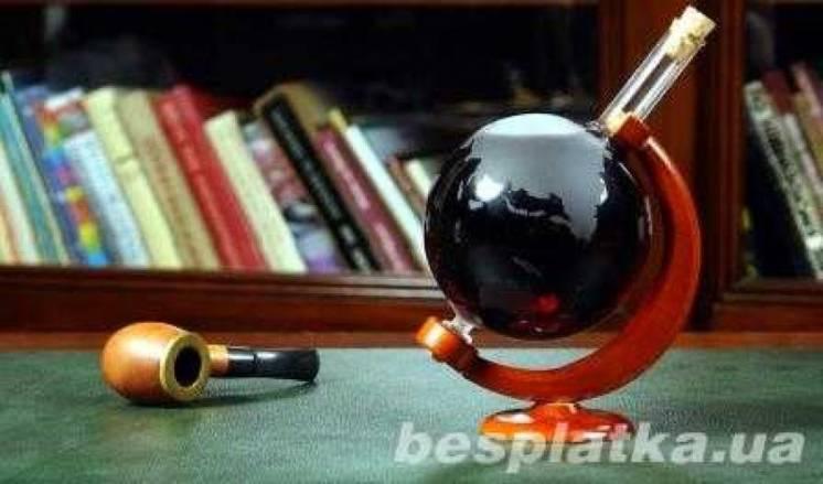 Глобус - (стекло, ручная работа)