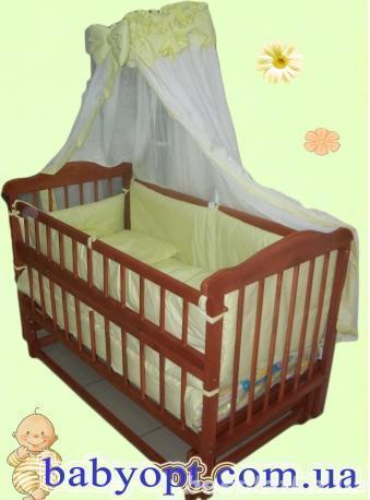 Акция!!! Кроватка маятник Новая модель+матрас кокос+набор постельного