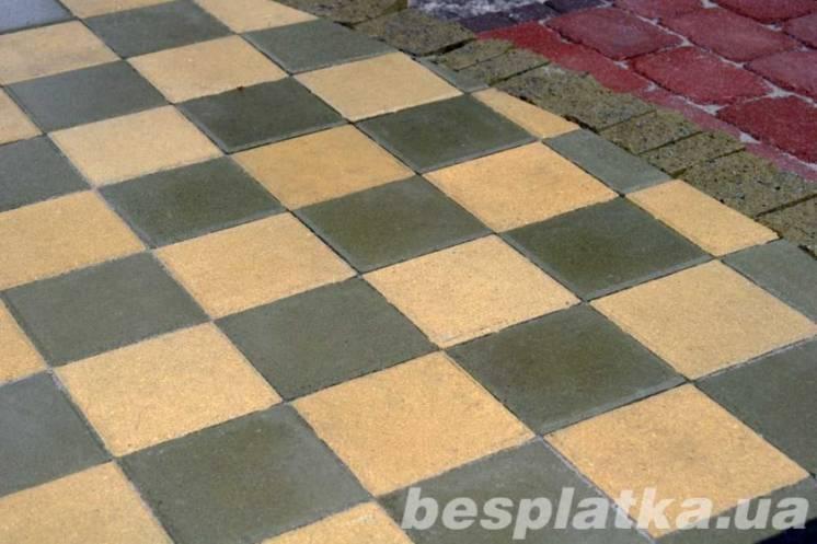Тротуарная плитка, вибропрессованая
