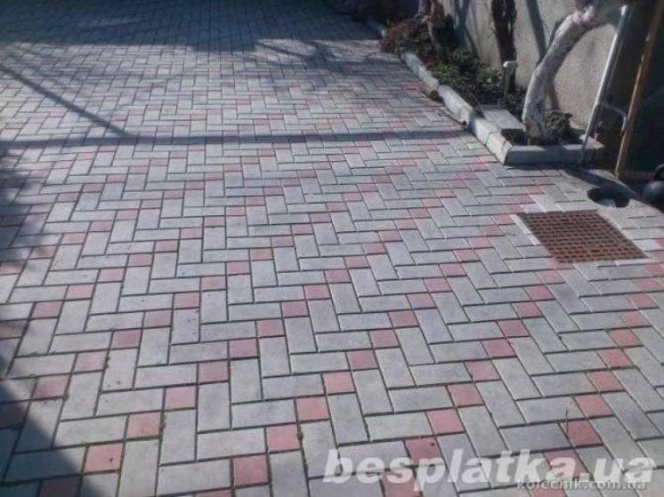 Тротуарная плитка «Старый город» доставка и укладка