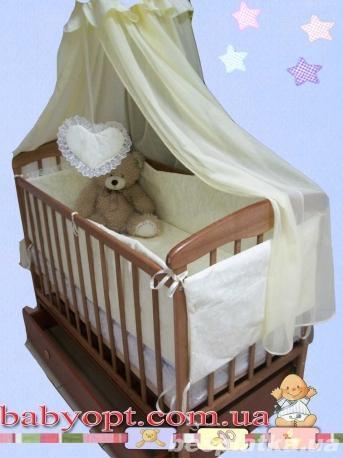 Кроватка маятник с ящиком , матрас кокос, постельный набор