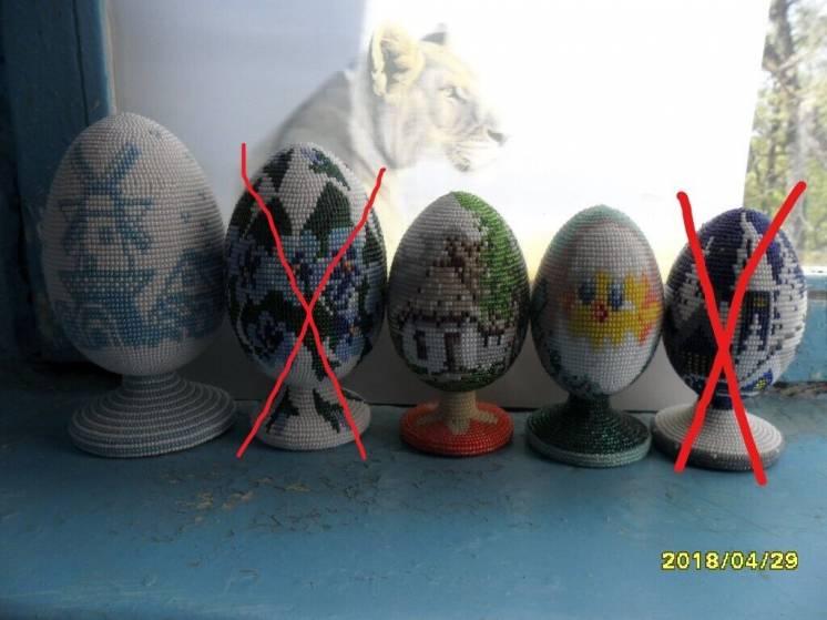 Продам яйца декоративные из бисера