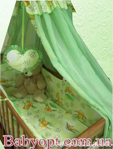 Распродажа! Кроватка + матрас кокос + постельный набор 8 эл. Новое