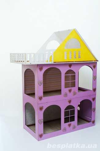 Разборной домик для кукол-кукольный домик. Лучший подарок .