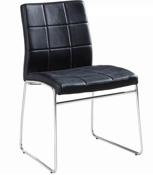 Мягкий стул майами, кожзам черный