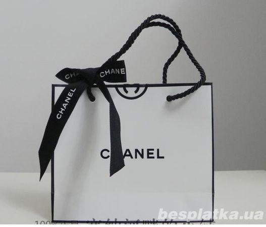 Бумажные Пакеты подарочные Шанель Chanel  оптом от 12-хшт код5а444