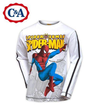 Реглан футболка длинный рукав «Spider-man» (Человек-Паук), бренд C&A