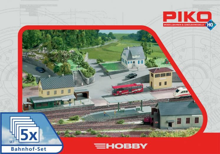 Набор строений Piko 61923 5 в 1. желеэная дорога H0(1:87)