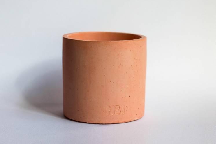 Горщик з бетону кораловий бетонное кашпо